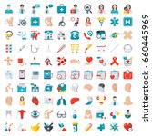 medical icons set  vector... | Shutterstock .eps vector #660445969