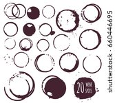 coffee or wine stain  round... | Shutterstock .eps vector #660446695