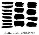 set of hand drawn grunge... | Shutterstock .eps vector #660446707