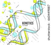 dna replication  genetic... | Shutterstock .eps vector #660449887
