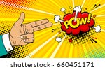 pop art background with male... | Shutterstock .eps vector #660451171