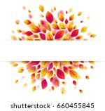 white paper stripe banner on... | Shutterstock .eps vector #660455845