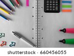 back to school. items for the... | Shutterstock . vector #660456055