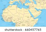north africa and middle east... | Shutterstock .eps vector #660457765