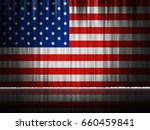 usa stage curtain background...   Shutterstock . vector #660459841