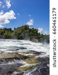 view of famous rhine falls... | Shutterstock . vector #660461179
