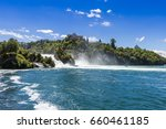 rhine fall on a sunny summer... | Shutterstock . vector #660461185