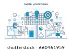 digital advertising and... | Shutterstock .eps vector #660461959