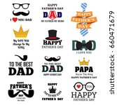 happy father's day greeting... | Shutterstock .eps vector #660471679