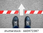 black shoes standing at the... | Shutterstock . vector #660472387