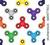 fidget spinner. seamless vector ... | Shutterstock .eps vector #660477811
