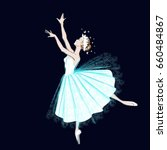 A Ballerina In Long Dress And...