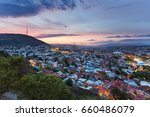 sunset panorama view of tbilisi ... | Shutterstock . vector #660486079