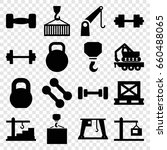 lifting icons set. set of 16... | Shutterstock .eps vector #660488065