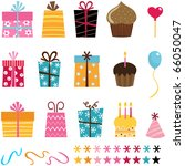 gift set and other birthday... | Shutterstock .eps vector #66050047