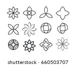 set of round design elements....   Shutterstock .eps vector #660503707