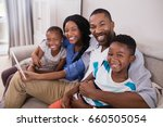 portrait of cheerful family... | Shutterstock . vector #660505054