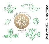 vector set of logo nature... | Shutterstock .eps vector #660507055