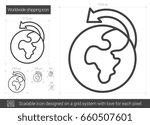 worldwide shipping vector line... | Shutterstock .eps vector #660507601