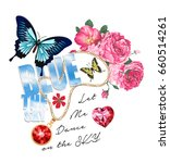 butterfly and slogan text.... | Shutterstock .eps vector #660514261
