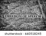 freedom of speech. torn pieces... | Shutterstock . vector #660518245