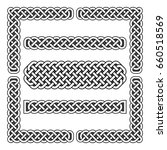 celtic knots medieval borders... | Shutterstock . vector #660518569