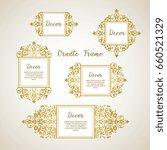 vector set decorative frame.... | Shutterstock .eps vector #660521329