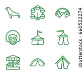 circus icons set. set of 9... | Shutterstock .eps vector #660522274
