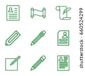 write icons set. set of 9 write ... | Shutterstock .eps vector #660524299