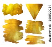 gold watercolor texture paint... | Shutterstock . vector #660530284