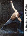dancer in aqua studio without t ... | Shutterstock . vector #66053044