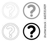 question mark in a circle  icon ... | Shutterstock .eps vector #660531409