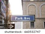 park avenue road sign  new york ... | Shutterstock . vector #660532747