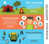 hiking travel banner horizontal ... | Shutterstock . vector #660534709