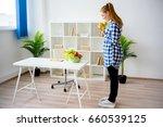 pregnant woman eating fruit | Shutterstock . vector #660539125
