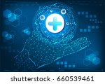 abstract technology concept... | Shutterstock .eps vector #660539461