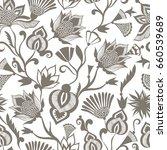vintage ethnic seamless pattern ... | Shutterstock .eps vector #660539689