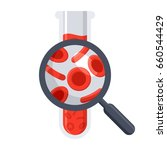 hematology concept with red... | Shutterstock .eps vector #660544429