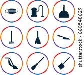 dust icons set. set of 9 dust... | Shutterstock .eps vector #660548629
