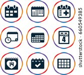 appointment icons set. set of 9 ... | Shutterstock .eps vector #660549385