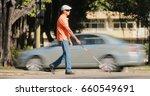 hispanic blind man  latino... | Shutterstock . vector #660549691