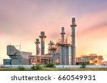 electric power plant during... | Shutterstock . vector #660549931