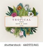 vintage wedding card. botanical ... | Shutterstock .eps vector #660551461