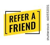 refer a friend. flat vector... | Shutterstock .eps vector #660552031