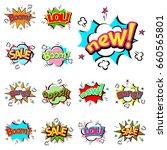 pop art comic speech bubble... | Shutterstock .eps vector #660565801