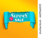 summer sale banner in the... | Shutterstock .eps vector #660566035
