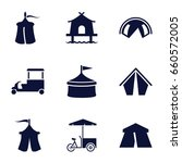 tent icons set. set of 9 tent... | Shutterstock .eps vector #660572005