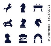 Horse Icons Set. Set Of 9 Horse ...