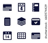 organizer icons set. set of 9... | Shutterstock .eps vector #660574429