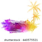 abstract painted grunge splash... | Shutterstock .eps vector #660575521